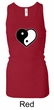 Ladies Yoga Tanktop Yin Yang Heart Longer Length Racerback Tank Top