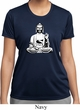 Ladies Yoga Tee At Peace Buddha Moisture Wicking T-shirt