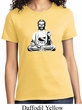 Ladies Yoga Tee At Peace Buddha T-shirt