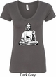 Ladies Yoga Tee At Peace Buddha V-Neck