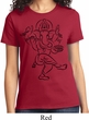 Ladies Yoga Tee Black Sketch Ganesha T-shirt
