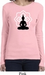 Ladies Yoga Tee Buddha Lotus Pose Long Sleeve