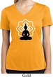 Ladies Yoga Tee Buddha Lotus Pose Moisture Wicking V-neck