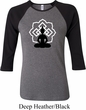 Ladies Yoga Tee Buddha Lotus Pose Raglan Shirt