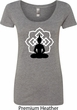 Ladies Yoga Tee Buddha Lotus Pose Scoop Neck