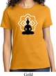 Ladies Yoga Tee Buddha Lotus Pose T-shirt