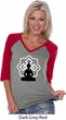 Ladies Yoga Tee Buddha Lotus Pose V-neck Raglan