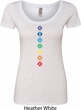 Ladies Yoga Tee Diamond Chakras Scoop Neck