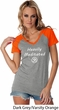Ladies Yoga Tee Heavily Meditated with OM Contrast V-neck
