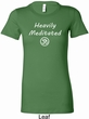 Ladies Yoga Tee Heavily Meditated with OM Longer Length Shirt