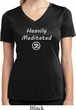 Ladies Yoga Tee Heavily Meditated with OM Moisture Wicking V-neck