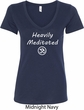 Ladies Yoga Tee Heavily Meditated with OM V-Neck