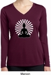 Ladies Yoga Tee Meditating Buddha Dry Wicking Long Sleeve