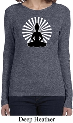 Ladies Yoga Tee Meditating Buddha Long Sleeve