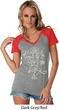 Ladies Yoga Tee Sketch Ganesha White Print Contrast V-neck