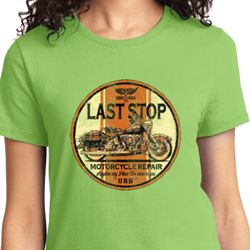 Last Stop Ladies Biker Shirts
