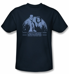 Law & Order: SVU Shirt Elliot & Olivia Adult Navy Tee T-Shirt