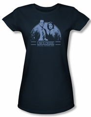 Law & Order: SVU Shirt Juniors Elliot & Olivia Navy Tee T-Shirt