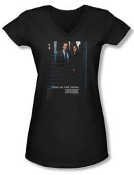 Law & Order: SVU Shirt Juniors V Neck SVU Black Tee T-Shirt