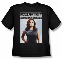 Law & Order: SVU Shirt Kids Behind Closed Black Youth Tee T-Shirt