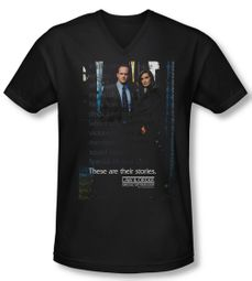 Law & Order: SVU Shirt Slim Fit V Neck SVU Black Tee T-Shirt