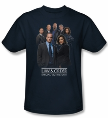Law & Order: SVU Shirt Team Adult Navy Tee T-Shirt