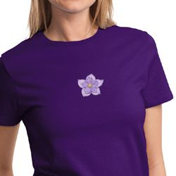 Layered Flower Patch Ladies Yoga Shirts
