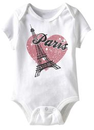 Le Paris Funny Baby Romper White Infant Babies Creeper