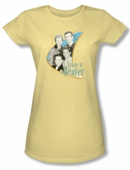 Leave it to Beaver Shirt Juniors Wholesome Family Yellow Tee T-Shirt