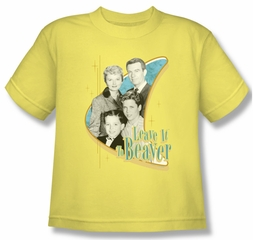 Leave it to Beaver Shirt Kids Wholesome Family Yellow Youth Tee