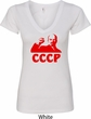 Lenin CCCP Ladies V-Neck Shirt