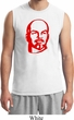 Lenin Profile Mens Muscle Shirt, White