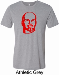 Lenin Profile Mens Tri Blend Crewneck Shirt