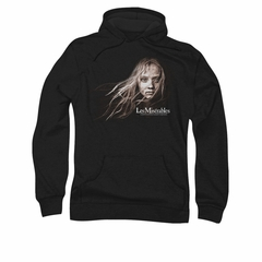 Les Miserables Hoodie Sweatshirt Cosette Face Black Adult Hoody Sweat Shirt