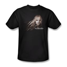 Les Miserables Shirt Cosette Face Adult Black Tee T-Shirt