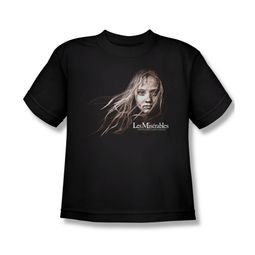 Les Miserables Shirt Kids Cosette Face Black Youth Tee T-Shirt