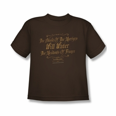 Les Miserables Shirt Kids Martyrs Coffee Youth Tee T-Shirt