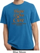 Leukemia Cancer Awareness Hope Love Cure Pigment Dyed Shirt