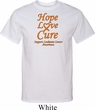 Leukemia Cancer Awareness Hope Love Cure Tall Shirt