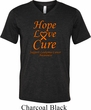 Leukemia Cancer Hope Love Cure Tri Blend V-neck