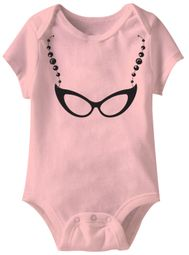 Librarian Glasses Funny Baby Romper Pink Infant Babies Creeper