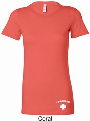 Lifeguard Bottom Print Ladies Longer Length Shirt