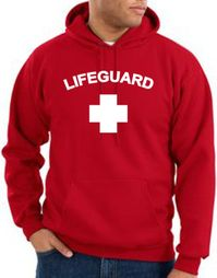 Lifeguard Hoodie Hooded Sweatshirt Adult Hoody