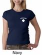 Lifeguard Ladies Crewneck Shirt Pocket Print