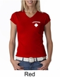 Lifeguard Ladies V-Neck Shirt Pocket Print