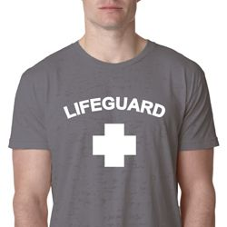 Lifeguard Mens Burnout Shirt