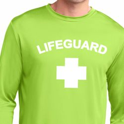 Lifeguard Mens Dry Wicking Long Sleeve Shirt