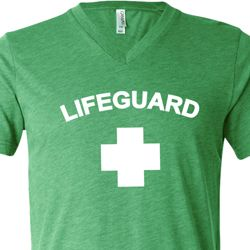 Lifeguard Mens Tri Blend V-neck Shirt
