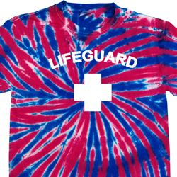 Lifeguard Patriotic Tie Dye Shirt