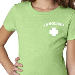 Lifeguard Pocket Print Girls Shirt